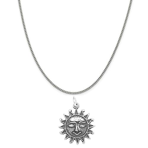 Raposa Elegance Sterling Silver Aztec Sun Charm on a Sterling Silver 20