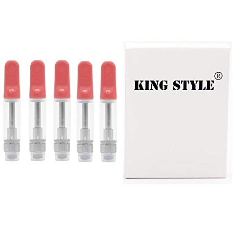 King Style 20 Pack 1ml Ceramic Wickless Cartridge (Pink)