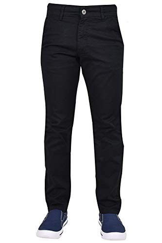 Enzo Mens Chinos Trousers Slim Fit Jeans Denim Pants Cotton Stretch Zip All Waist Sizes & Inside Leg 30, 32, 34 in…