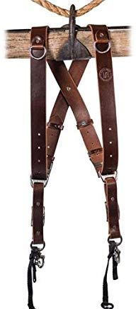 HoldFast Gear Money Maker Two-Camera Harness (Water Buffalo, Burgundy, Small Size) by HoldFast