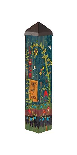 Studio M Secret Garden Art Pole Bold Bloom Outdoor Decorative Garden Post, Made in USA, 20 Inches Tall