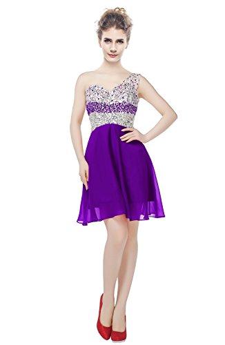 one shoulder asymmetrical prom dress - 7