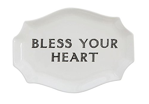 Heart Decorative Plate - COOP Bless Your Heart Decorative Stoneware Plate
