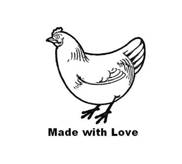 Personalized Rubber Egg Stamp - 12mm impression size (HEN) Photo #4