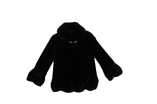 (Bergama 713413 New Black Sheared Longhair Mink Fur Jacket Coat Stroller S)