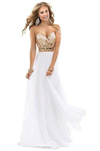 elegant a line sweetheart floor length prom dresses - 7