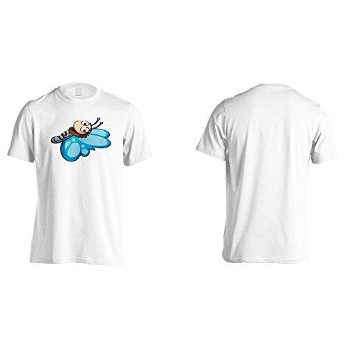 Neuer Schmetterling Glückliches Lächelnkunst Herren T-Shirt l332m
