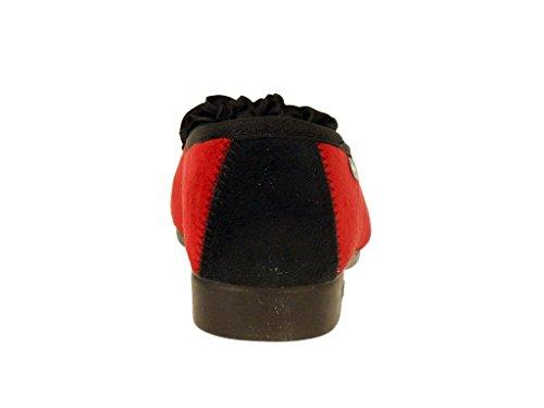 Coloris Domi 2 Chaussons rouge Noir SEMELFLEX 1zq68wc