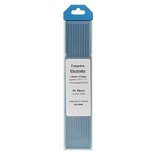 - OKIl 10pcs Tungsten WL20 2.0% Lanthanated Blue Tip TIG Electrode 1.0mmx175mm