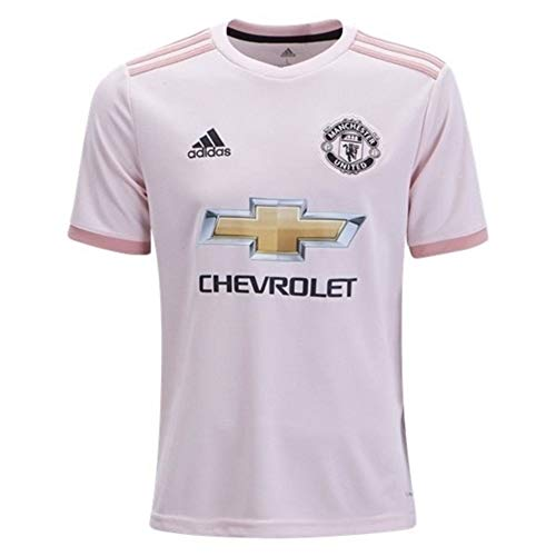 adidas World Cup Soccer Manchester United Soccer Youth Manchester United FC Away Jersey, Medium, Icey Pink