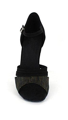 Latin Vintage De M Design Dance Bout Daim Chaussures En Pour Minitoo Danse Noir Ouvert Confortable Femmes 8 Uk vwxfg0aqw