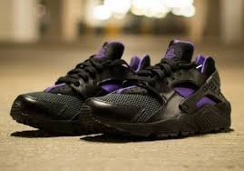 nike womens air huarache trainers 634835 sneakers shoes (uk 4.5 us 7 eu 38, black anthracite hyper grape 005)