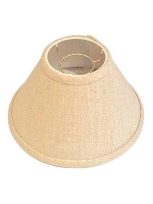 Upgradelights Beige Linen 10 Inch Empire Chimney Style Lampshade 4x10x5 Chimney Shade