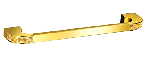 (Secret Bath Cecilia Luxury Gold Swarovski Crystals Small Towel bar)