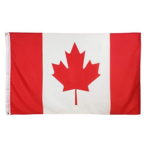 Oniche Canadian Flag 3X5 FT Canada Flag Polyester National Flags Indoor Outdoor Flags Vivid Color Flag with Brass Grommets (Canada Flag) -