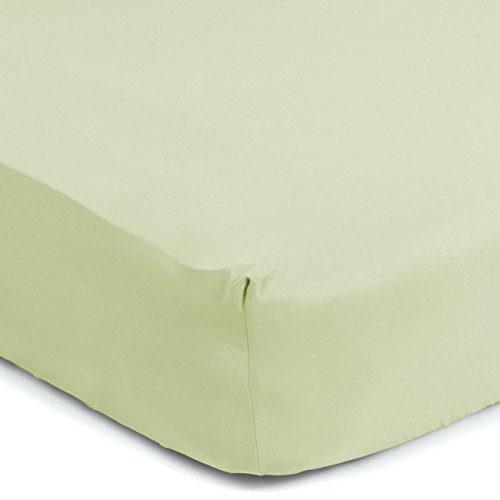 "Sealy Therma-Fresh Cooling Moisture Wicking Fitted Crib Sheet - Hypoallergenic, Temperature Responsive & Moisture Wicking Fabric, Deep Fitted Stretch Skirt 52""x28"" (Sage Green) - Fresh Sage"