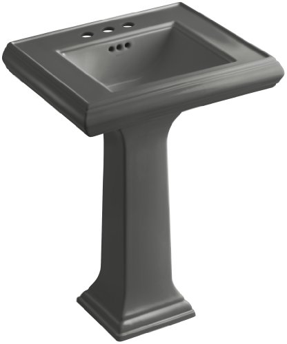 58 Thunder Grey Pedestal - KOHLER K-2238-4-58 Memoirs Pedestal Bathroom Sink with 4