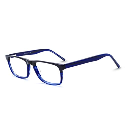 OCCI CHIARI Optical Men's Eyewear Classic Non-prescription Eyeglasses Frame (C-Blue) ()