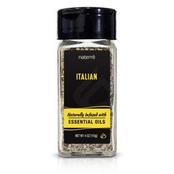 Naterre Italian Spice Blend 4 oz- Delicious Blend of Natural Organic Spices and Essential Oils - The Perfect Ingredient for Italian Flavored Breads, Pastas, & - Italian Mustard