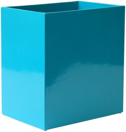 Jonathan Adler Lacquer Waste Basket, Blue (Trash Lacquer Can)