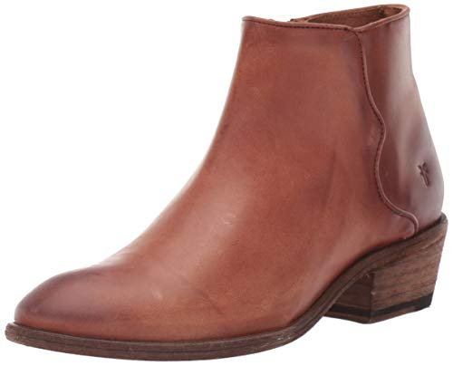 FRYE Women's Carson Piping Bootie Ankle Boot, Cognac, 8.5 M US