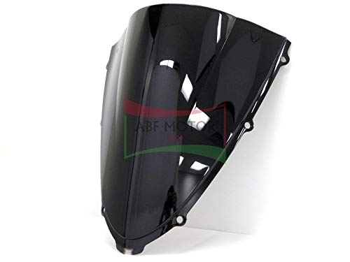 Protek ABS Plastic Injection Black Smoke Double Bubble Transparent Windscreen Windshield for 2006 2007 2008 2009 2010 2011 2012 2013 2014 2015 2016 2017 2018 Kawasaki Ninja ZX14 ZX14R ZX1400C ZX1400A ()