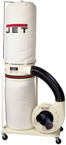 JET 708639 DC-1100A 1-1 2-Horsepower 1,100 CFM Vertical Bag Dust Collector, 115 230-Volt 1-Phase