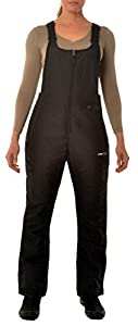 Arctix Women's Classic Insulated Snow Overalls Bib, Black, XX-Large