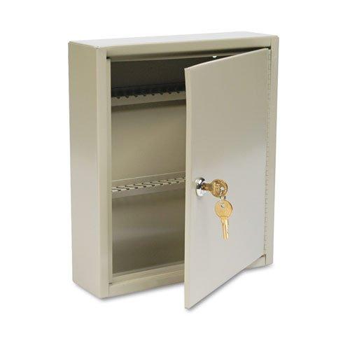 - Uni-Tag Key Cabinet, 60-Key, Steel, Sand, 10 5/8 x 3 x 12 1/8