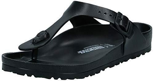 Birkenstock Essentials Unisex Gizeh EVA Sandals, 38 R EU, Black, 7-7.5 Women/5-5.5 Men
