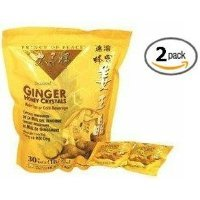 Crystal Noodle (Prince of Peace Instant Ginger Honey Crystals 2 Pack of 30 Bags - 18 g Sachets)