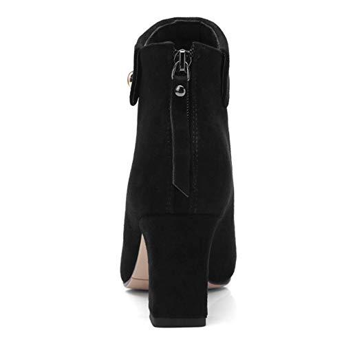 Pointu Femmes Bout Coolcept Soirée Mode Noir Bottines w4UtO