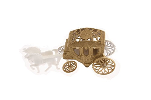 12 Cinderella Coach Wedding Carriage Favor Plastic - Gold