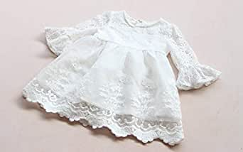 White Floral Girl's Dress, 1-2 Years
