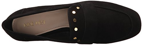 Nine West Women's Ximon Suede Ballet Flat, Black