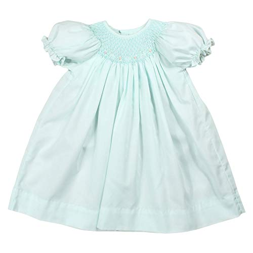 Petit Ami Baby Girls' Bishop Smocked Daydress, 9 Months, Mint -