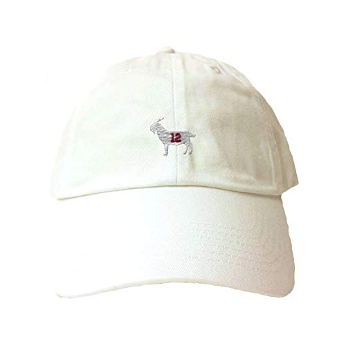 Go All Out Adjustable White Adult Goat #12 Embroidered Dad -