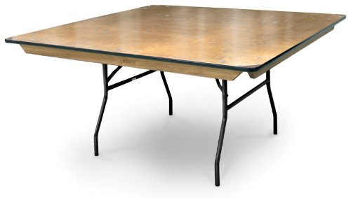 McCourt 039-70100 Plywood Folding Table, Polycot Finish with Vinyl Edge, 48'' Square,