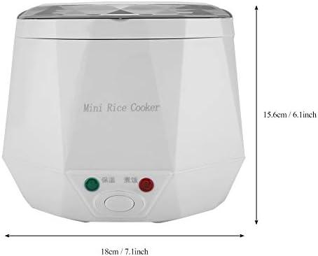 White dos tazas de arroz vaporizador 12V 100W 1.3L hervidor de arroz port/átil Vaporizador de alimentos multifuncional para dos coches