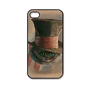DUR Alice in Wonderland Pattern Plastic Hard Case for iPhone 4/4S