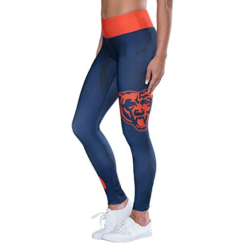 FOCO NFL Women's Team Color Marble Wordmark Legging, Chicago Bears Small]()