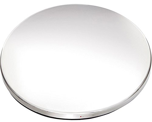 (iLuv Pewter Drinks Coaster Round Bright Polished Felt Backing Ideal for Engraving and Company Logo)
