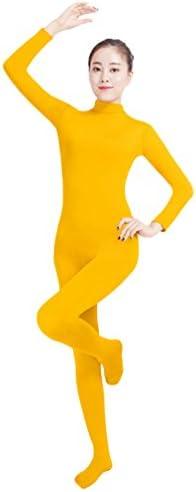NiSeng Adults and Children Catsuit Bodysuit Yoga Unitard Zip Up Long Sleeves Jumpsuit Costume Fancy Dress Catsuit Party Outfit Black M