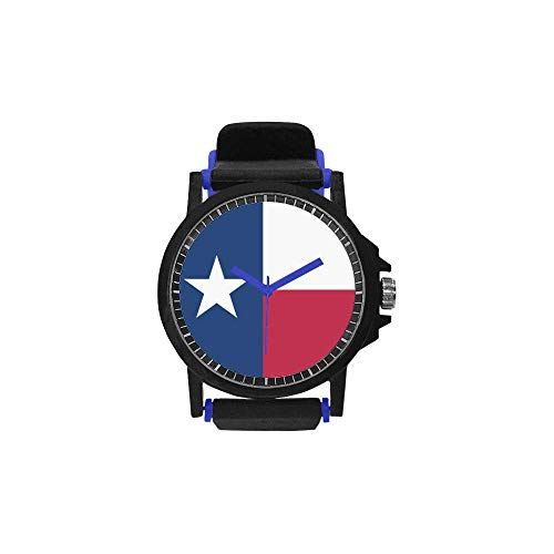 Unisex Silicone Strap Plastic Watch Thanksgiving Day/Christmas Day Gifts Texas State Falg Novelty -