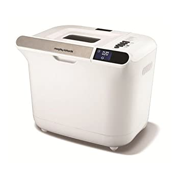 Morphy Richards 48326 Color blanco 600W - Panificadora (Color blanco, 907,2 g