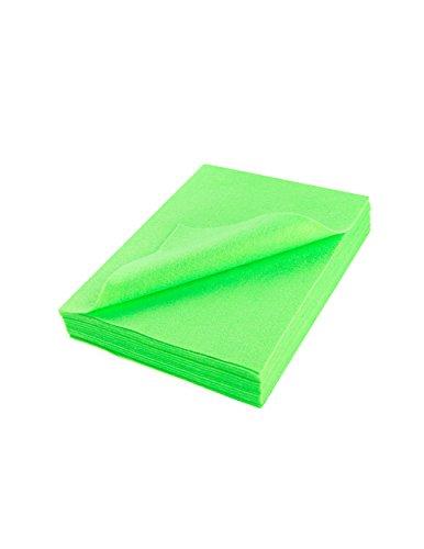 """Neon Felt - Acrylic Felt Sheet 9"""" X 12"""": 25 PCS, Neon Lime"""