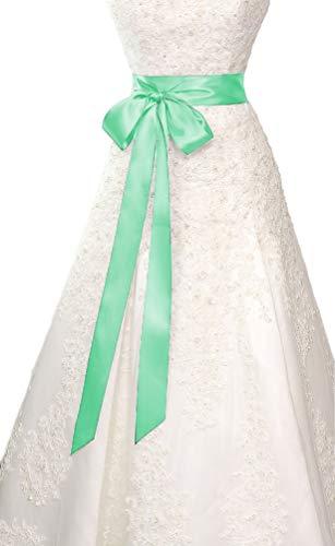 Belts Simple Classic Silk Ribbon Sash for Dress (Mint) ()