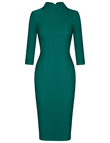MUXXN Ladies 50s 60s Fashion Half Sleeve High