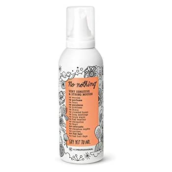 No nothing Very Sensitive Strong Mousse - Fragrance Free, Hypoallergenic, Alcohol Free, Unscented Styling Mousse for Volume - Gluten Free, Soy Free, Paraben Free - 6.8 oz