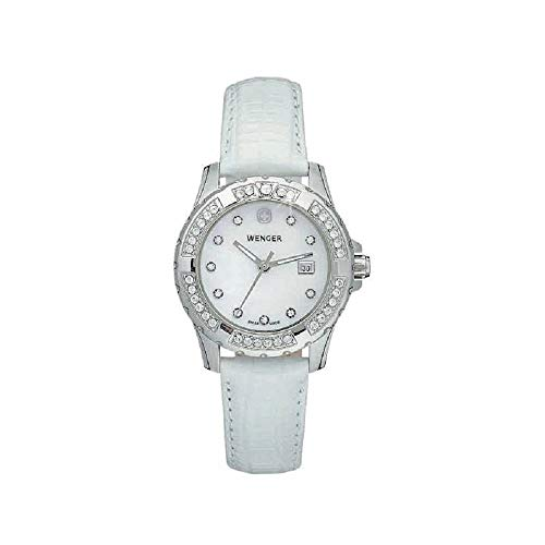 Wenger Sport Elegance Mother of Pearl Dial Leather Strap Ladies Watch 70364 (Sport Mother Of Pearl Dial)